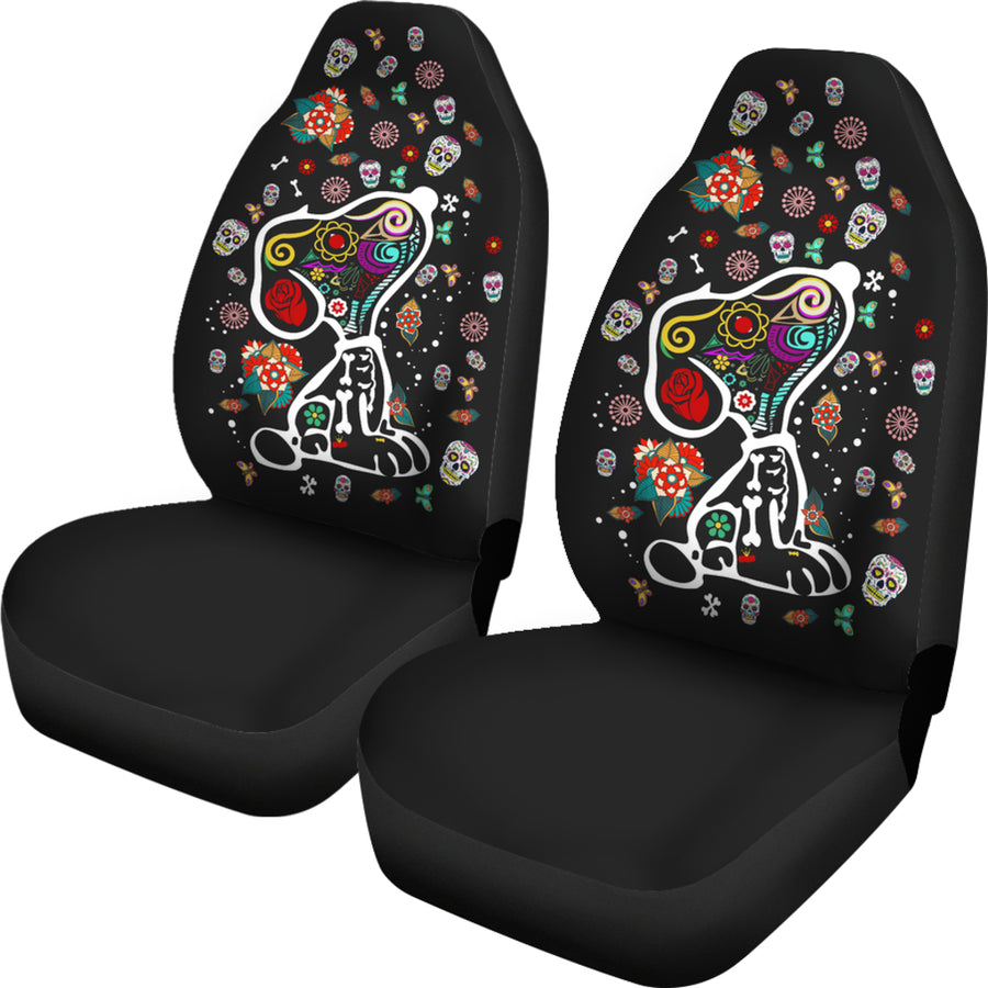 Colourful Snoopy - Car Seat Covers  (Set of 2)