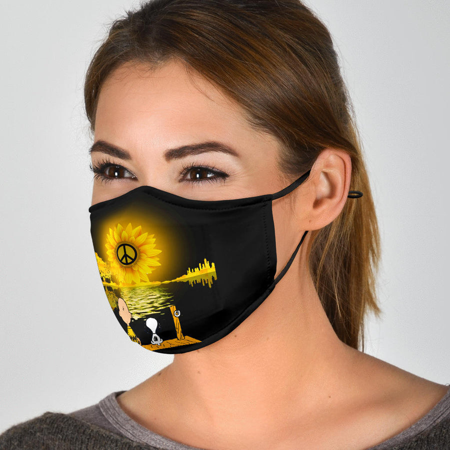 Peace Snoopy Face Mask