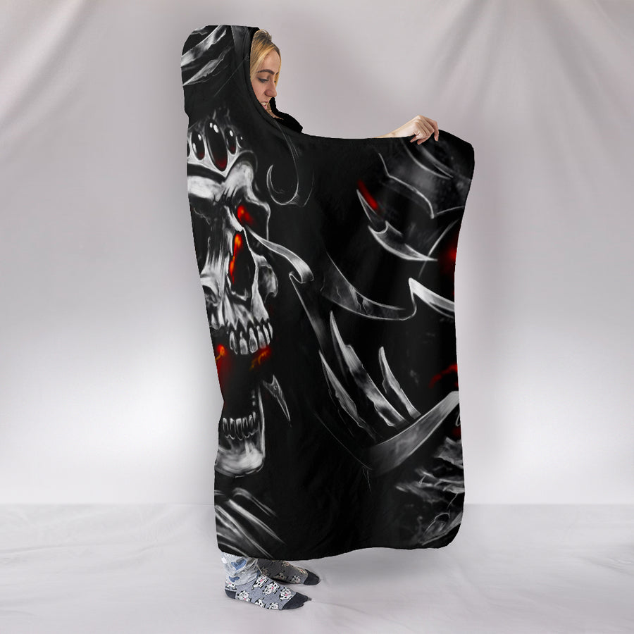 Skull King - Hooded Blanket