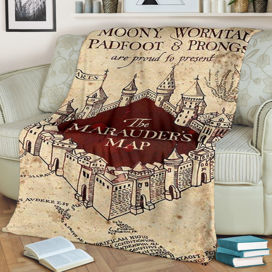 The Marauder's Map - Premium Blanket