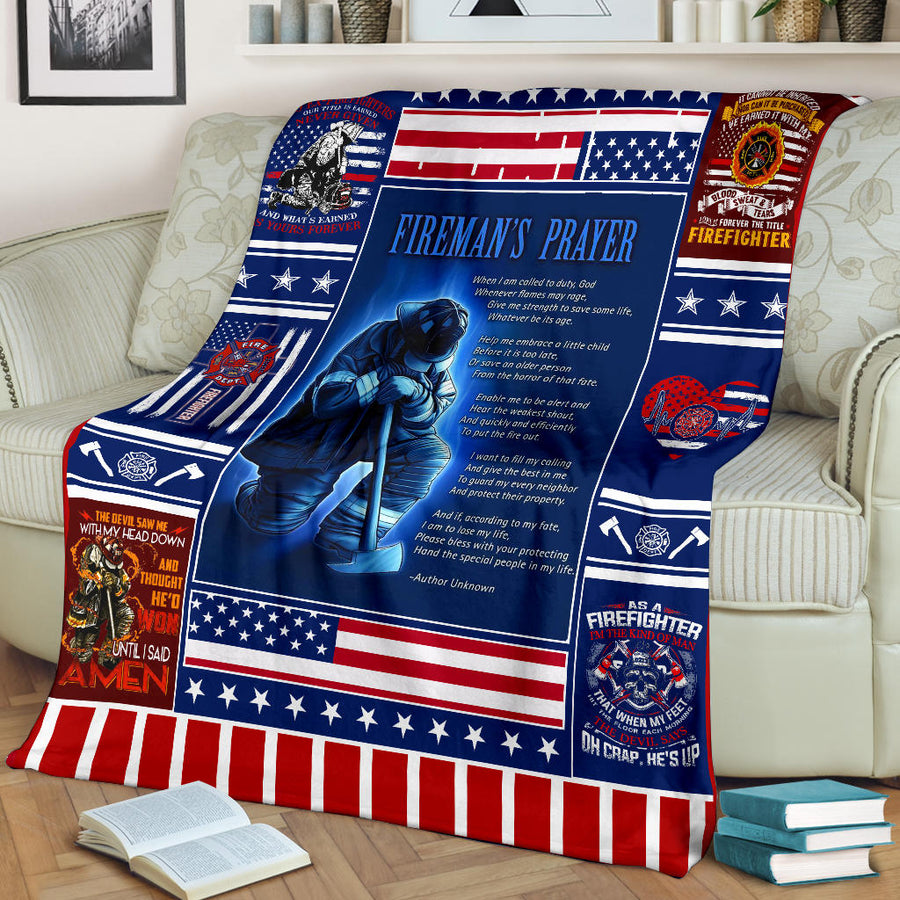 Fireman's Prayer - Premium Blanket