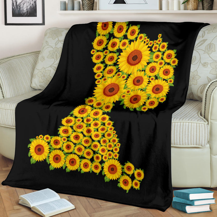 Sunflower Snoopy - Premium Blanket