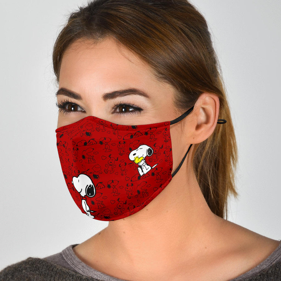 Snoopy And Woodstock - Face Mask