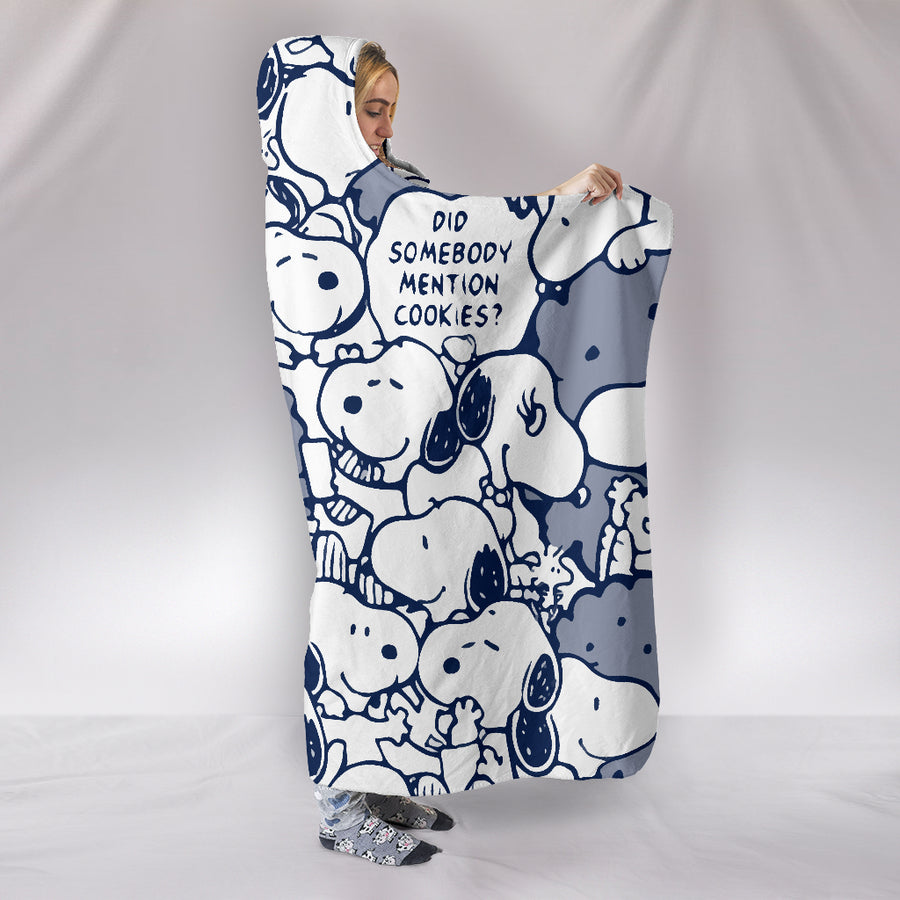Snoopy Hooded Blanket - Navy