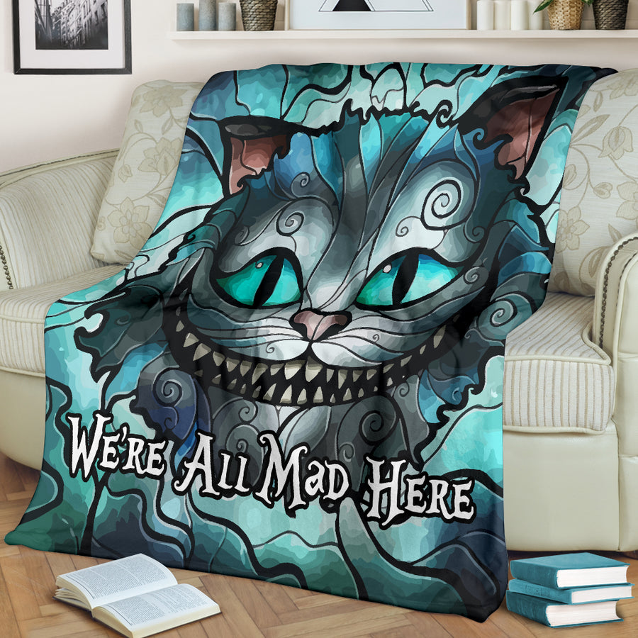 We're All Mad Here - Premium Blanket