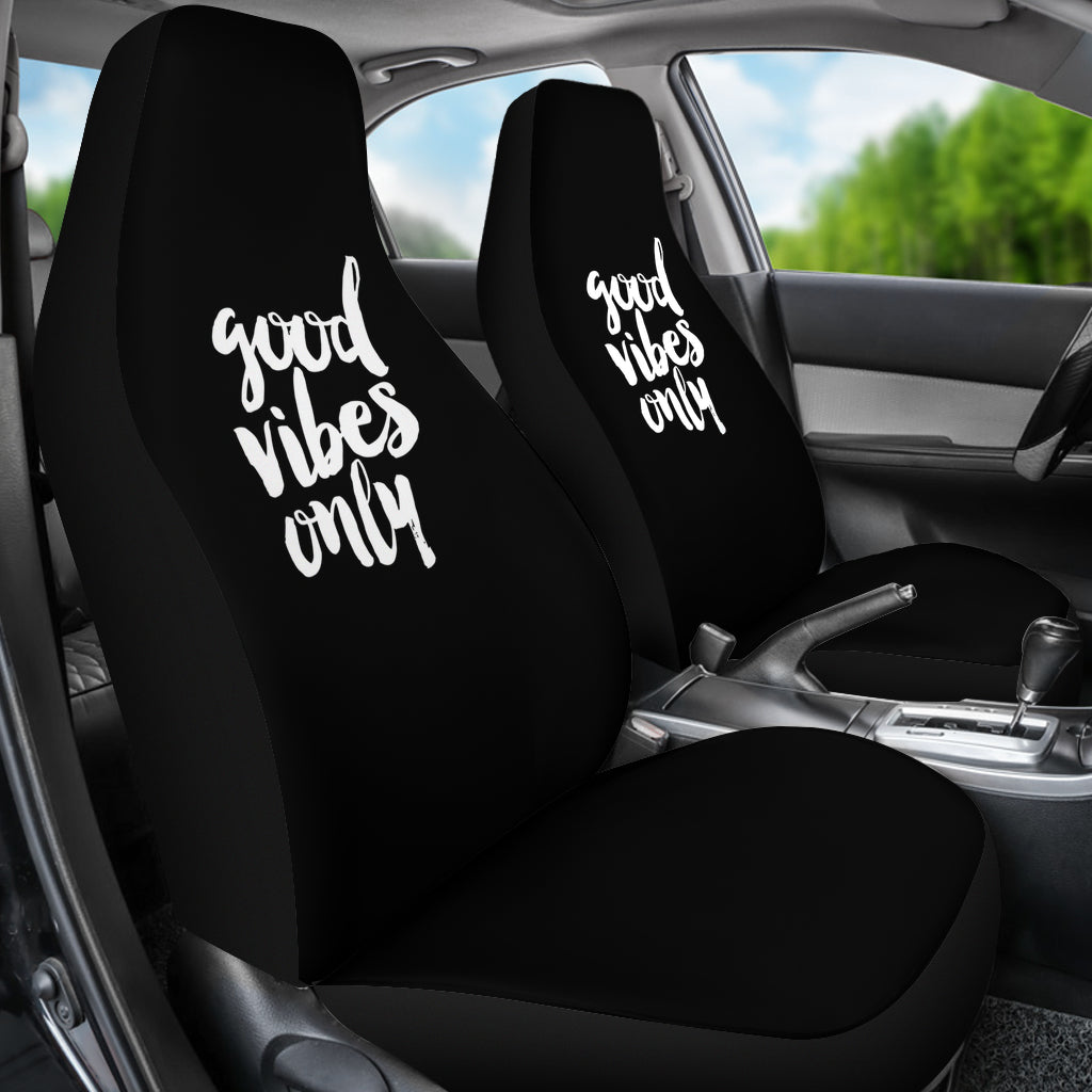 Stupendous Good Vibes Only Car Seat Covers Set Of 2 Andrewgaddart Wooden Chair Designs For Living Room Andrewgaddartcom