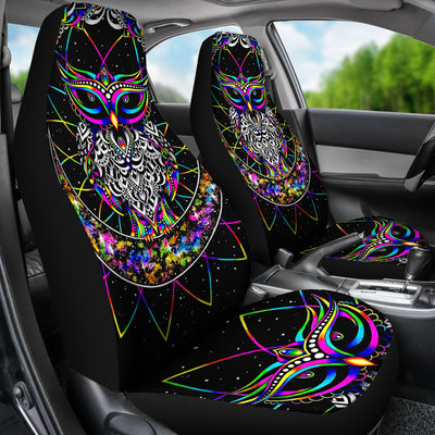 Colourful Owl - Car Seat Covers (Set of 2)