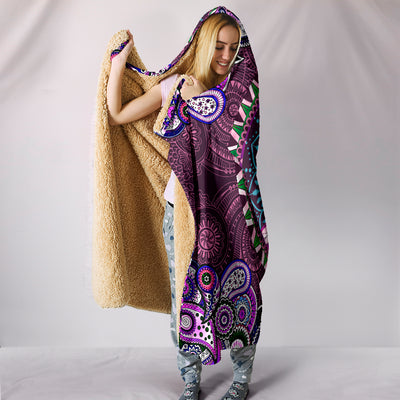 Purple Peace Mandala - Hooded Blanket
