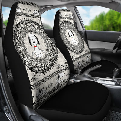 Yoga Snoopy - Car Seat Covers   (Set of 2)