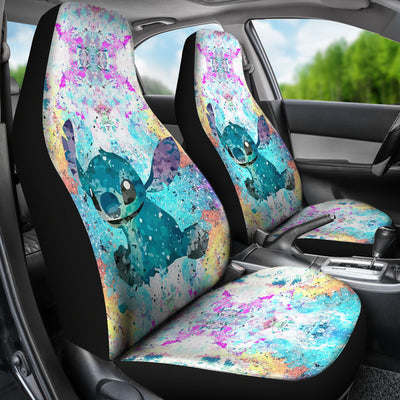 Lilo and Stitch Watercolor - Car Seat Covers  (Set of 2)