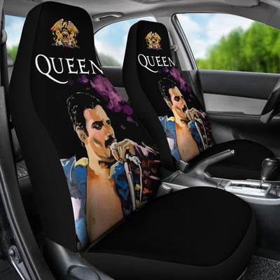 Freddie Mercury - Queen - Car Seat Covers  (Set of 2)