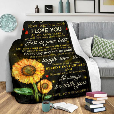 TO MY GRANDSON - I'LL ALWAYS BE WITH YOU - PREMIUM BLANKET