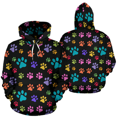 Colorful Dog Paws Hoodie