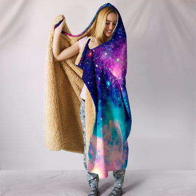 Galaxy Storm - Hooded Blanket
