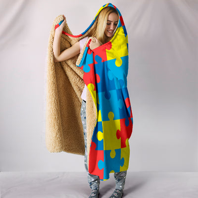 Autism Awareness V2 - Hooded Blanket