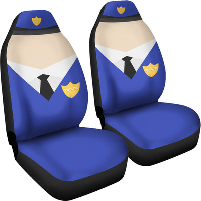 Police - Car Cover Seats - (Set of 2)