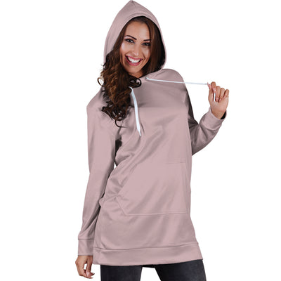 Light Dusty Rose - Hoodie Dress