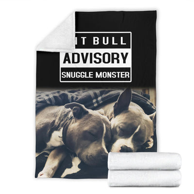 Pit Bull Advisory Snuggle Monster Premium Blanket