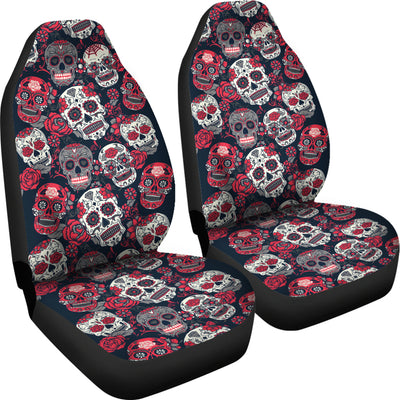 Pink Sugar Skull - Car Seat Cover - (Set of 2)