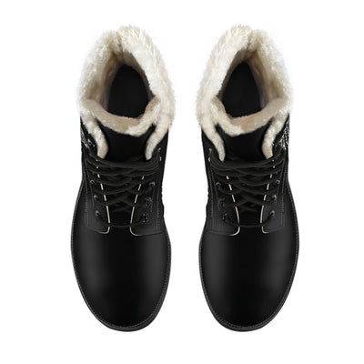 Queen in the North - Faux Fur Leather Boots