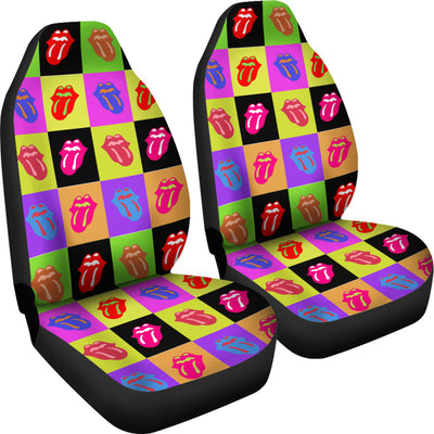 Rainbow Tongue - Car Seat Covers (Set of 2)