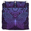 Purple Butterfly Bedding Set