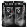 Skull Play Cards Couple v2 - Bedding Set
