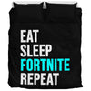 Eat Sleep Fortnite Bedding Set