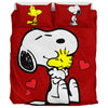 Red Snoopy and Woodstock - Bedding Set