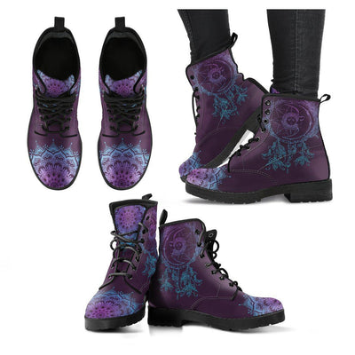Purple Sun and Moon Dream Catcher Boots