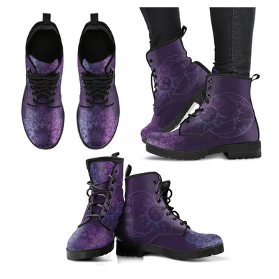 Purple Sun and Moon 2 Boots