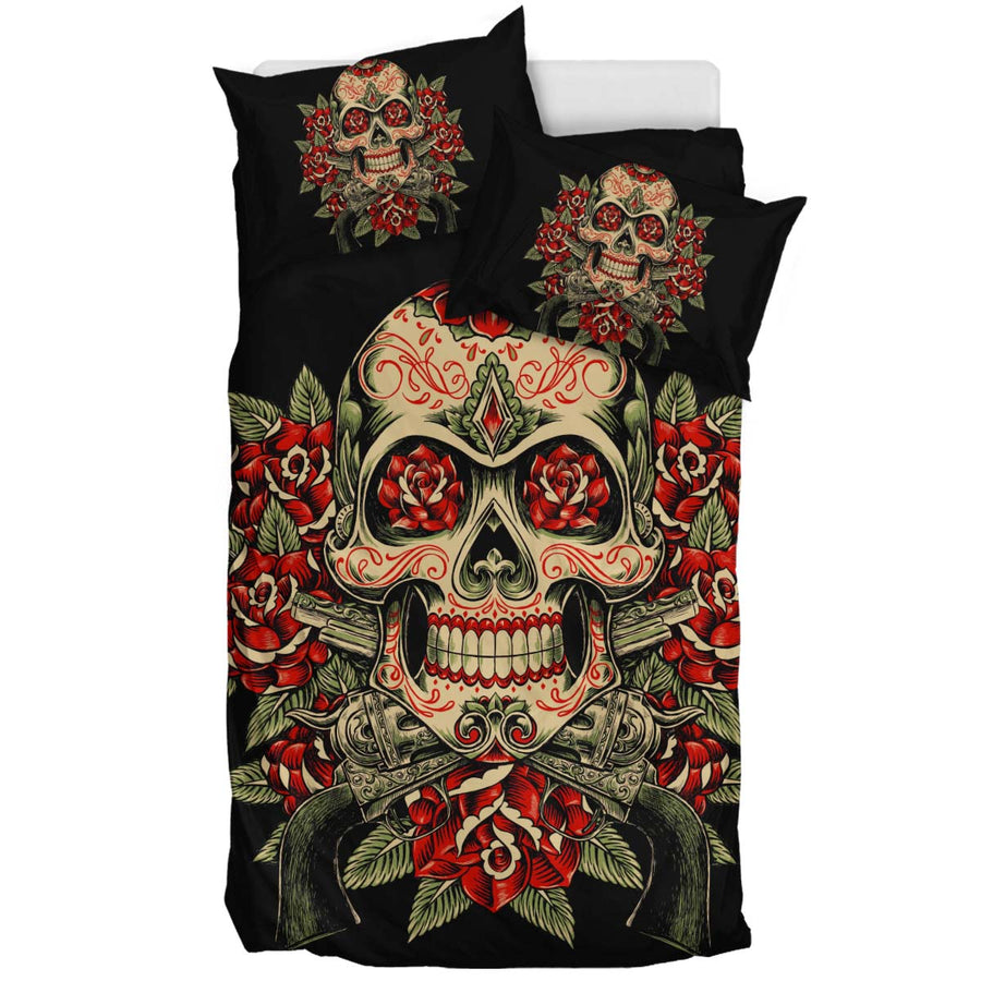 Skull and Roses - Bedding Set