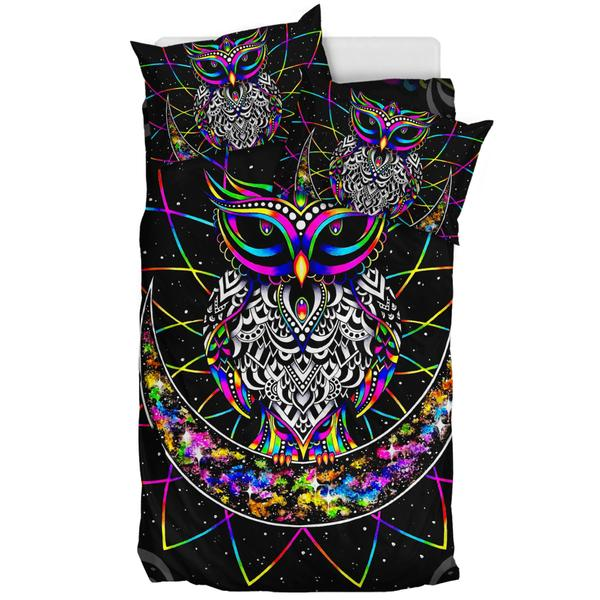 Colourful Owl - Bedding Set