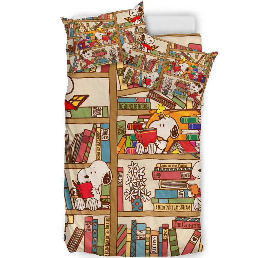 Snoopy Bookshelf - Bedding Set