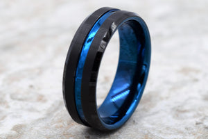 Silver Tungsten Carbide Ring
