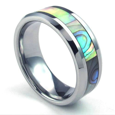 Women Silver Tungsten Ring - Alabone - 6mm