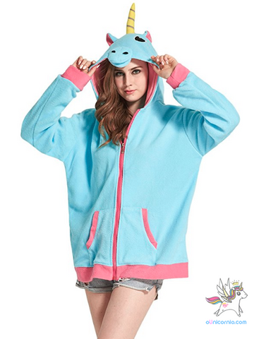 Moletom KIGU Unicórnio Azul /Teen Sweater + SURPRESA E CARTINHA DA ANNA LAYZA (EXCLUSIVO)