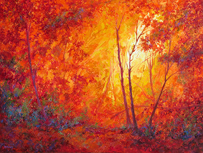 Blaze of Color original oil painting by Jeri Desrochers