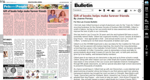 Books for Furever Friends news article