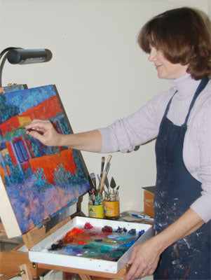 artist Jeri Desrochers at work