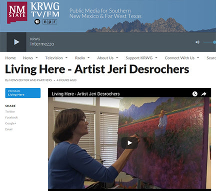 Living Here series on PBS featuring Jeri Desrochers art