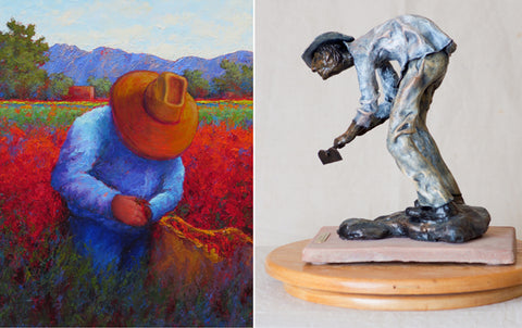 Braceros Art Exhibit - Sculptures by Diana LeMarbe, Paintings by Jeri Desrochers