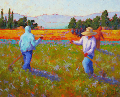 Field Trio original oil painting by New Mexico Artist Jeri Desrochers
