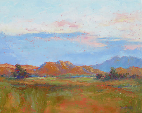 Last Nights Rain original oil painting by New Mexico Artist Jeri Desrochers