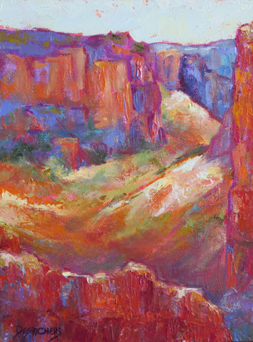 Sedona Colors original oil painting by New Mexico Artist Jeri Desrochers