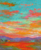 Turquoise Sky VI original oil painting by New Mexico Artist Jeri Desrochers