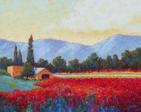 Valley Orchard original oil painting by New Mexico Artist Jeri Desrochers