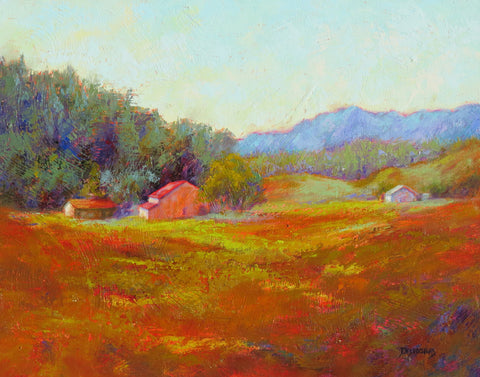 Campo Verde original oil painting by New Mexico Artist Jeri Desrochers