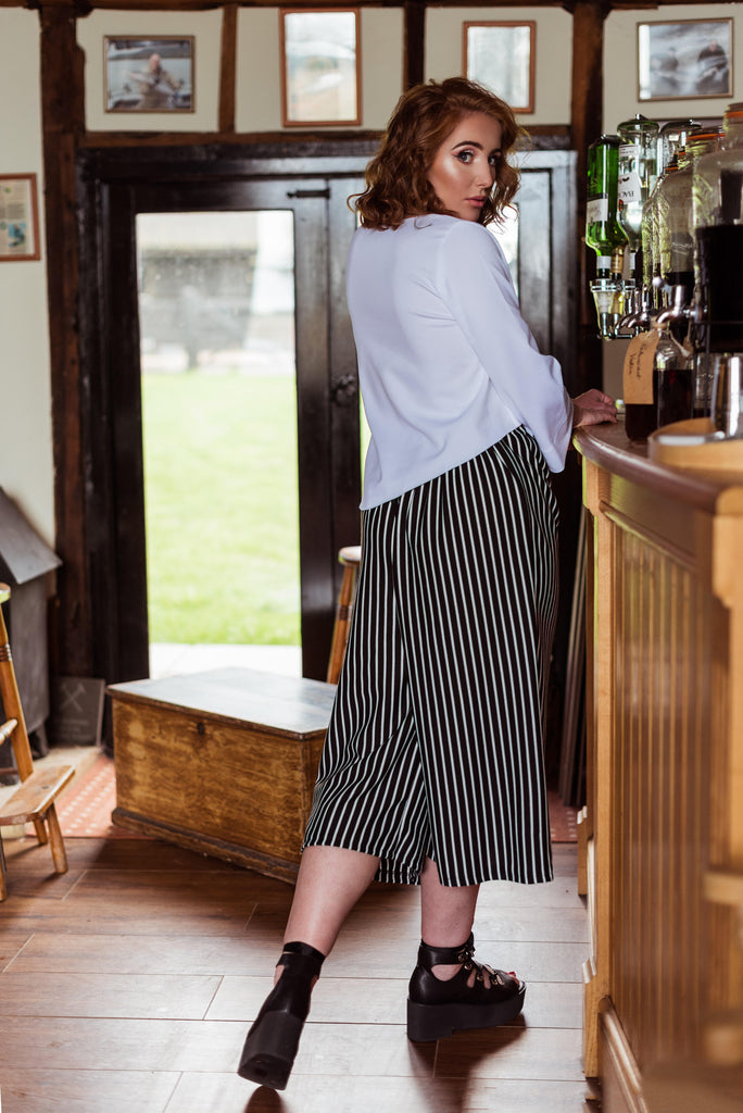 Stretch Stripe Culottes