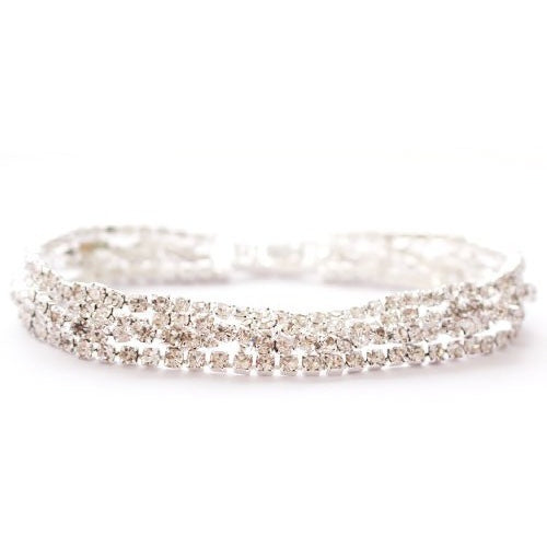 Clear Rhinestone Bracelet -Barbara's Boutique